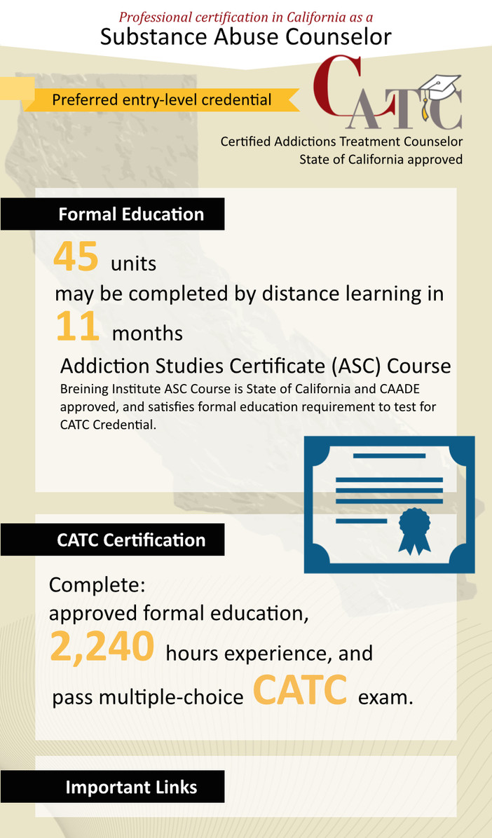 California aod counselor certification breining and caade leading the way in california ahead of schedule 1betcityfo Images